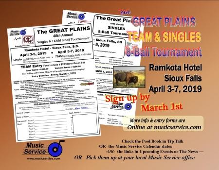 Great Plains SINGLES & TEAM 8-Ball