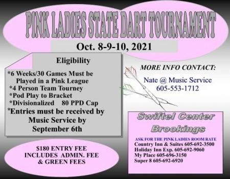 2021 South Dakota State Pink Ladies Dart Tourney