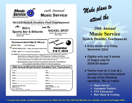 2019 Music Service MIXED Scotch Doubles