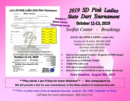 2019 SD State Pink Ladies Dart Tourney