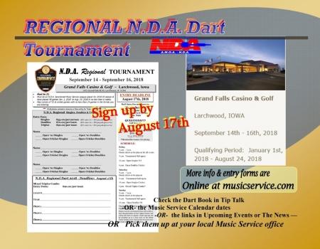 2018 Regional NDA Darts, Larchwood, IA