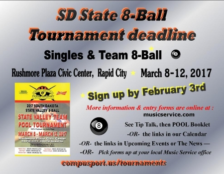 2017 SD State 8-Ball Tournament