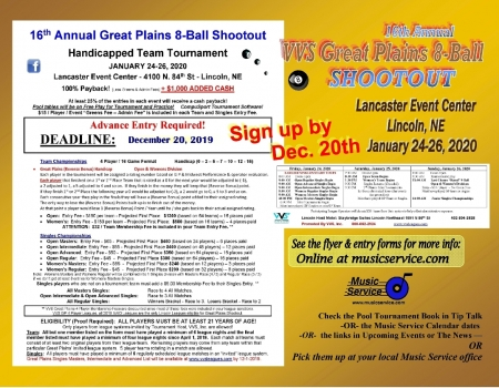 2020 VVS Great Plains 8-Ball Shootout