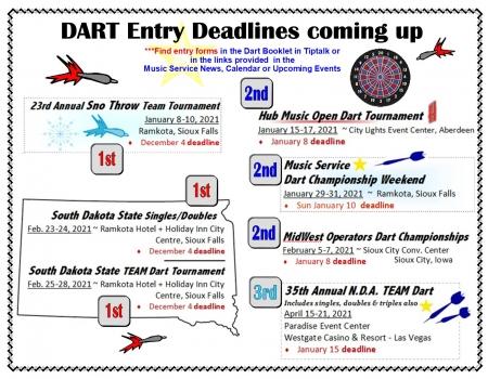 2020-21 More Dart Deadlines