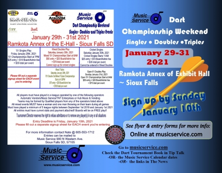 2021 Music Service Dart Championship Weekend