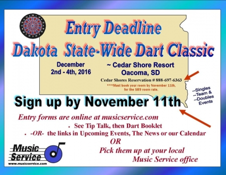 2nd Annual Dakota State-Wide Darts