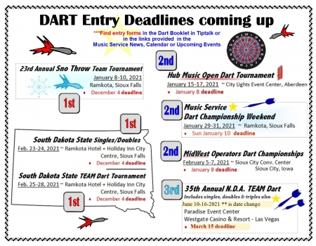 2020-21 More Dart Deadlines
