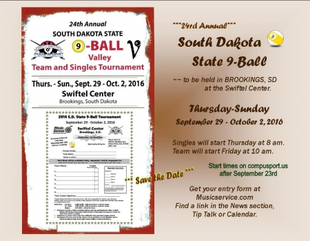 2016 SD State 9-Ball Tournament