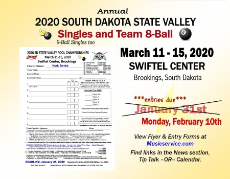 2020 SD State Valley Pool Championships