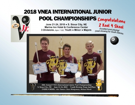 2018 VNEA International Pool, 2nd Place