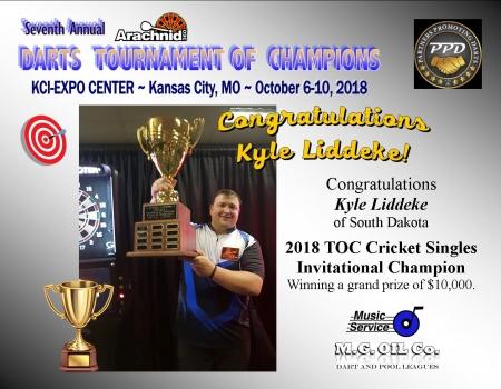 2018 TOC - Kyle Liddeke Cricket Champion