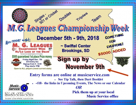 MG Leagues Championship week 2018