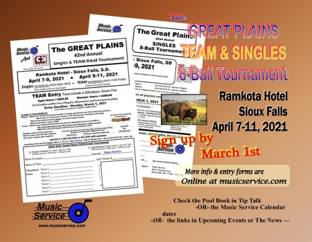 2021 Great Plains Singles & Team 8-Ball