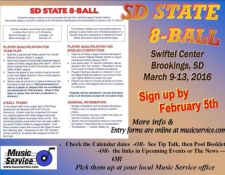 2016 SD State 8-Ball Tournament
