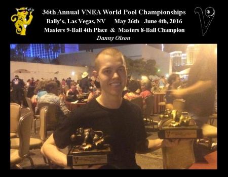 2016 VNEA Masters 8-Ball Champion