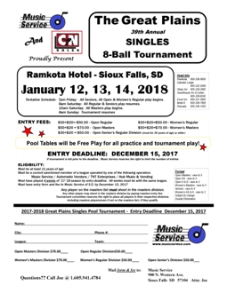 2018.1-12.Great Plains Singles 8-Ball Entry 255x330