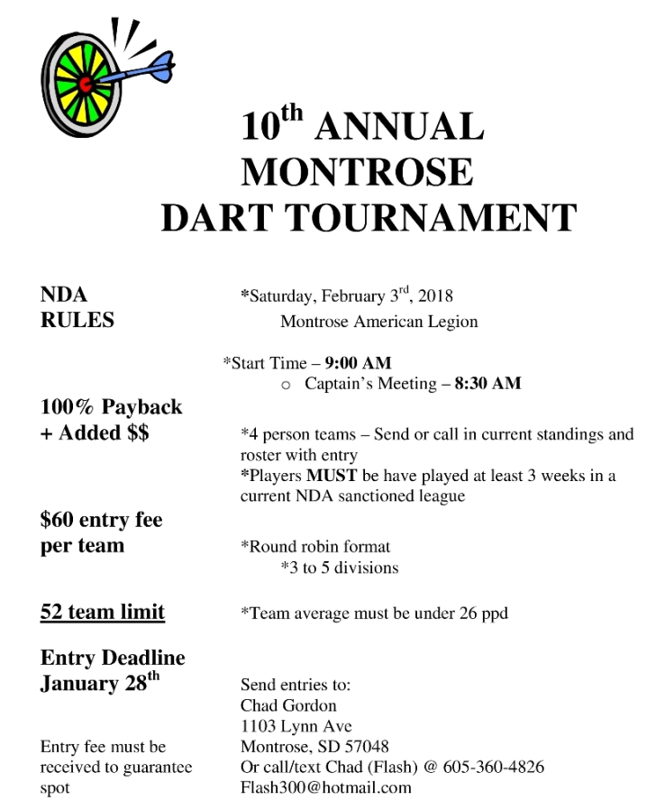 2018.2-3.Annual Montrose Team Dart Tournament 738x798