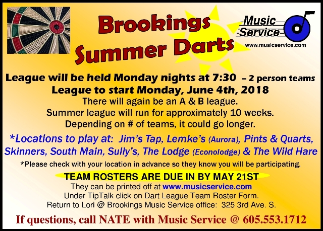 2018.5-16.deadline to sign up Bkgs Summer Darts 640x459